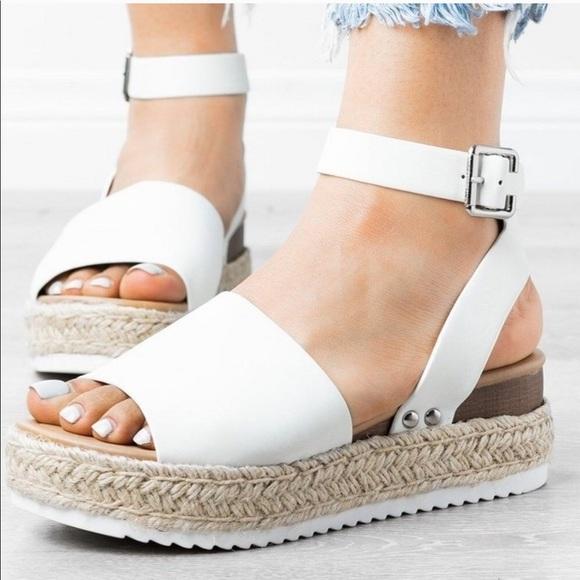 Soda Shoes | Restock White Espadrille